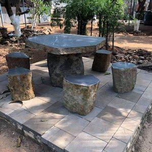 Bàn ghế đá xanh đẹp chất lượng cao giá rẻ thiết kế cao cấp