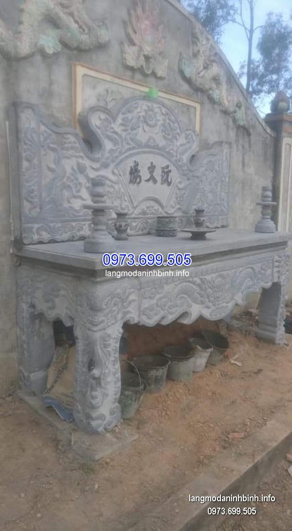 Bàn lễ đá xanh đẹp chất lượng tốt giá hợp lý thiết kế đơn giản