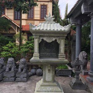 Bàn thờ thiên đá xanh đẹp chất lượng cao giá tốt thiết kế đơn giản