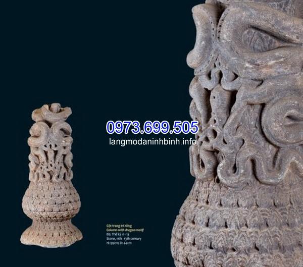 Cột đá rồng thuộc triều nhà Lý (thế kỷ 11 – 13) được khai quật từ Thành Thăng Long (Hà Nội).