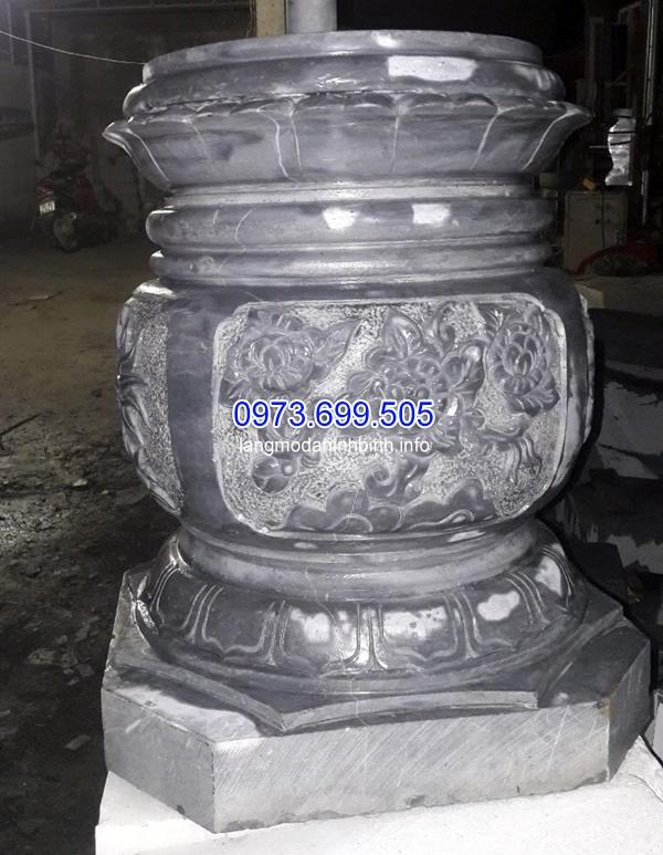 Mẫu chân cột đá cao cấp được chạm khắc công phu