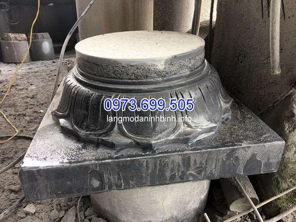 Chân cột đá cho công trình đình chùa