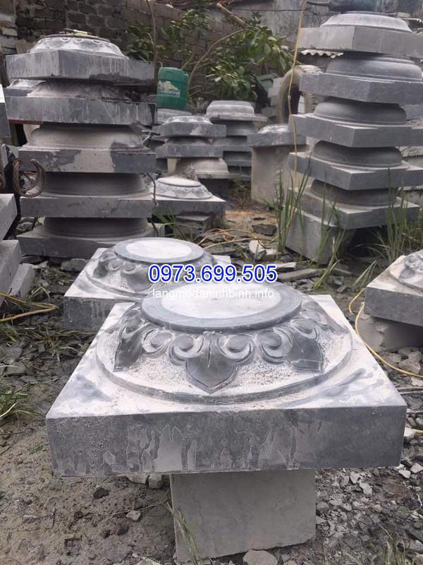 Chân cột đá được chạm khắc hoa văn lồi đẹp nhất hiện nay