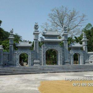 Cổng tam quan đá xanh đẹp nhất chất lượng cao giá tốt thiết kế hiện đại