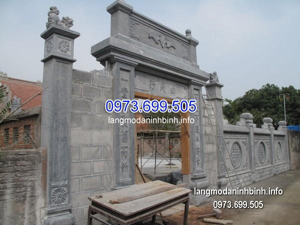 Cổng tam quan đá xanh đẹp nhất chất lượng cao giá tốt thiết kế đơn giản