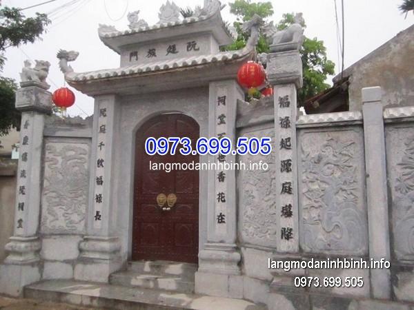 Cổng tam quan đá xanh đẹp nhất chất lượng tốt giá rẻ thiết kế cao cấp