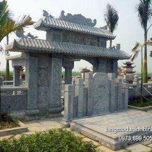 Cổng tam quan đá xanh đẹp nhất chất lượng tốt giá tốt thiết kế đơn giản