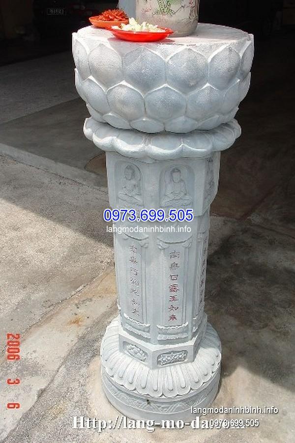 Cột đá xanh đẹp chạm khắc rồng giá hợp lý thiết kế hiện đại