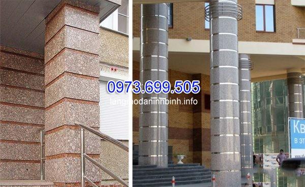 Lựa chọn cột vuông ốp đá giúp giảm chi phí thi công so với cột tròn