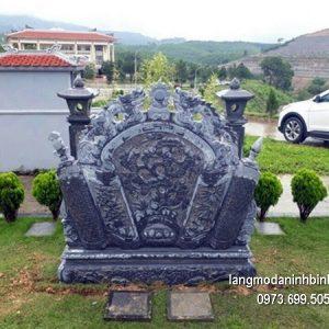 Mẫu cuốn thư đá đẹp nhất chấn phong thủy cho khu lăng mộ