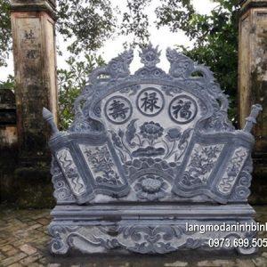 Mẫu cuốn thư đá đẹp chấn phong thủy cho đình làng