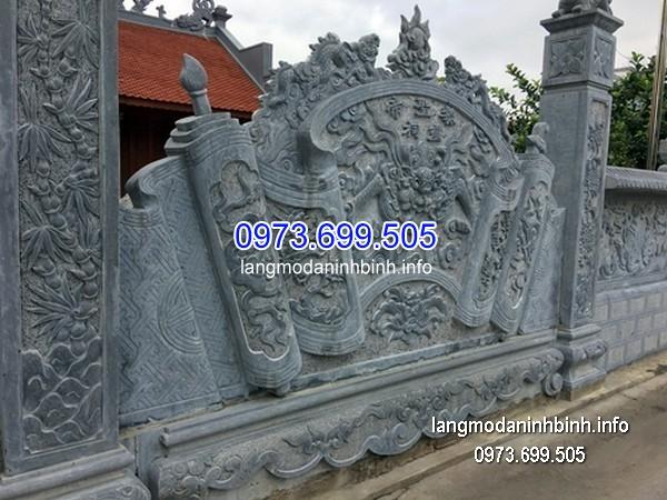 Mẫu cuốn thư đá đẹp chấn phong thủy cho khu lăng mộMẫu cuốn thư đá đẹp chấn phong thủy cho khu lăng mộ
