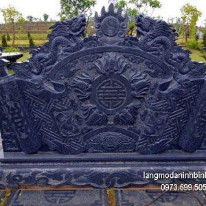 Mẫu cuốn thư đá chạm khắc đẹp chấn phong thủy cho đình làng