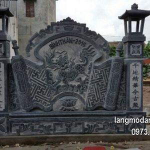 Mẫu cuốn thư đá chạm khắc đẹp chấn phong thủy cho nhà thờ