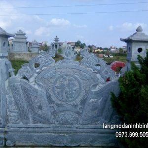 Mẫu cuốn thư đá đẹp nhất chấn phong thủy cho đình làng