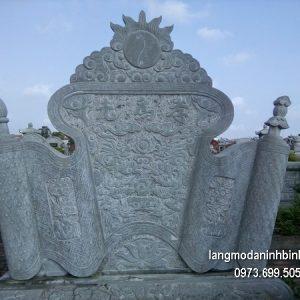 Mẫu cuốn thư đá đẹp nhất chấn phong thủy cho nhà thờ
