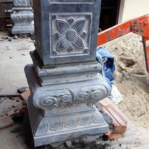 Chân tảng đá vuông đẹp giá hợp lý chạm khắc thủ công