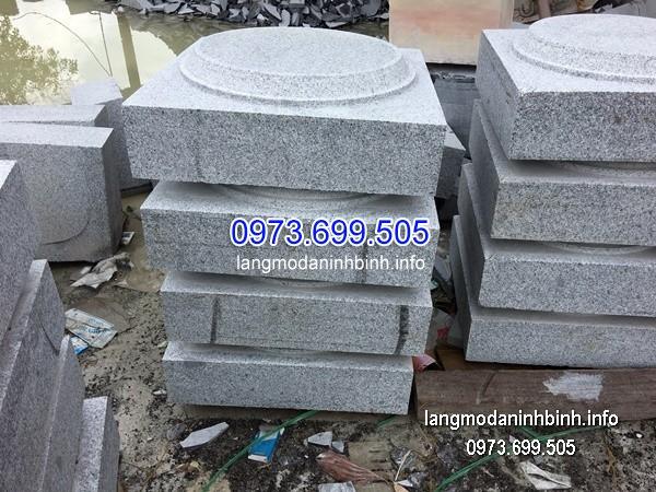 Chân tảng đá vuông đẹp giá rẻ chạm khắc thủ công