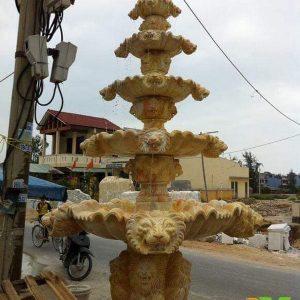 Đài phun nước bằng đá tự nhiên đẹp thiết kế hiện đại giá hợp lý