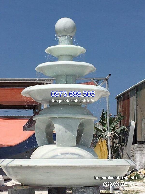 Đài phun nước bằng đá tự nhiên đẹp thiết kế đơn giản giá rẻ