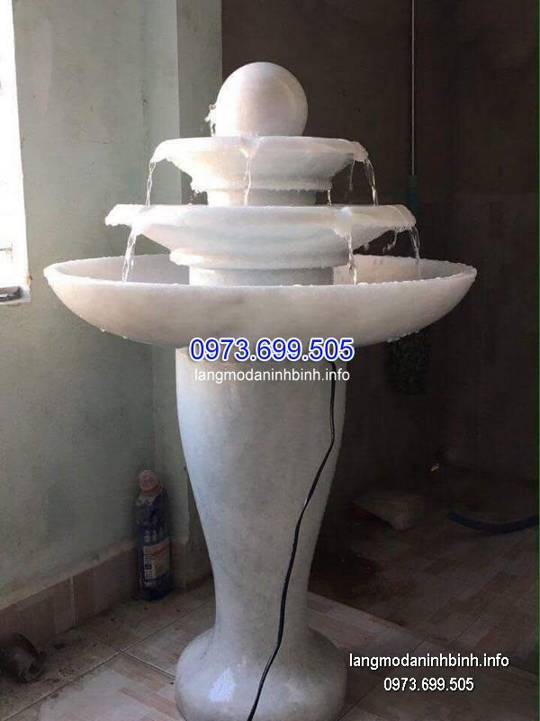 Đài phun nước bằng đá tự nhiên đẹp thiết kế đơn giản giá tốt