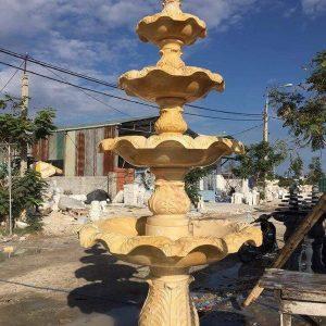 Đài phun nước bằng đá tự nhiên đẹp nhất thiết kế cao cấp giá rẻ