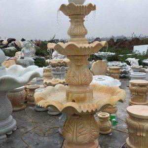 Đài phun nước bằng đá tự nhiên đẹp nhất thiết kế cao cấp giá hợp lý