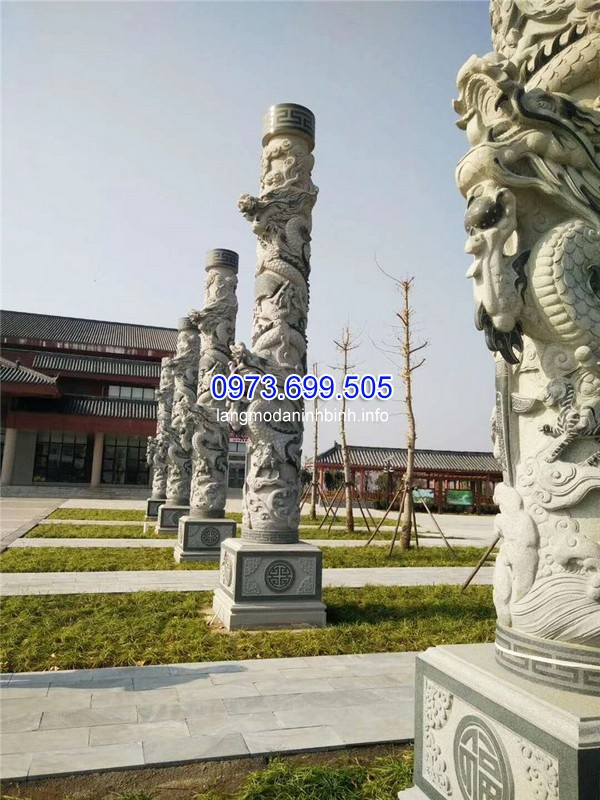 Hàng cột đá rồng có giá trị cao về mặt nghệ thuật
