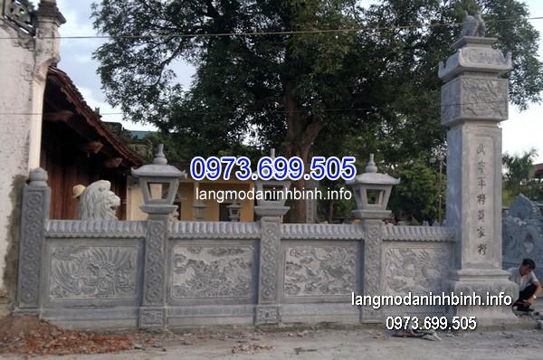 Hàng rào đá xanh đẹp chất lượng cao giá rẻ thiết kế hiện đại