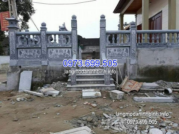 Hàng rào đá xanh đẹp chất lượng cao giá rẻ thiết kế cao cấp