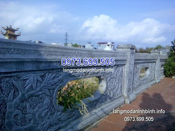 Lan can đá nhà thờ họ đình chùa đẹp