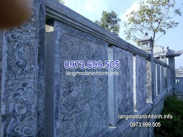 Hàng rào đá xanh đẹp chất lượng cao giá tốt thiết kế đơn giản