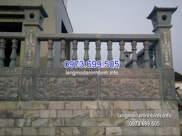 Hàng rào đá xanh đẹp chất lượng tốt giá rẻ thiết kế cao cấp