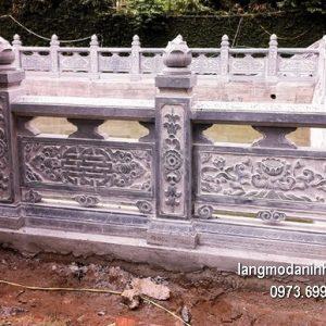Hàng rào đá xanh đẹp chất lượng tốt giá tốt thiết kế đơn giản