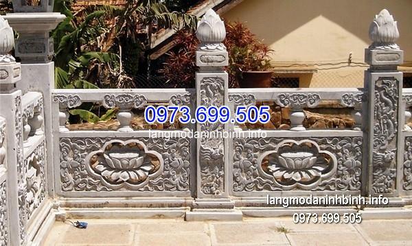 Hàng rào đá xanh đẹp chất lượng tốt giá hợp lý thiết kế đơn giản