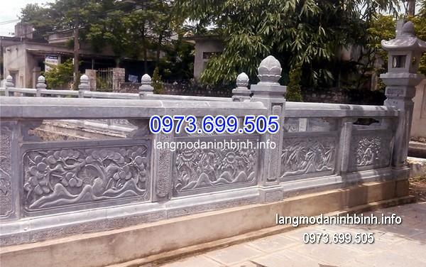 Hàng rào đá xanh đẹp nhất chất lượng cao giá tốt thiết kế hiện đại