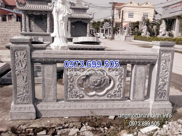 Hàng rào đá xanh đẹp nhất chất lượng cao giá tốt thiết kế đơn giản