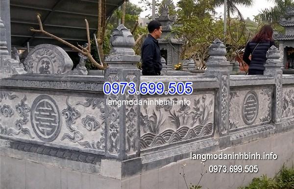 Hàng rào đá xanh đẹp nhất chất lượng cao giá hợp lý thiết kế cao cấp