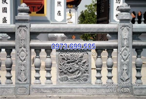 Lan can đá có họa tiết tinh sảo cho đình chùa