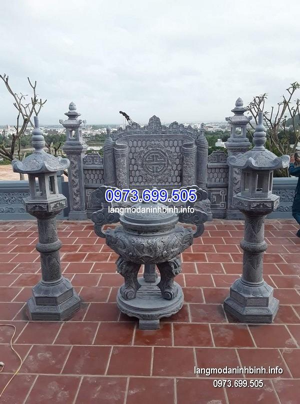 Lư hương đá đặt nhà chùa hoa văn tinh xảo chất lượng cao giá tốt
