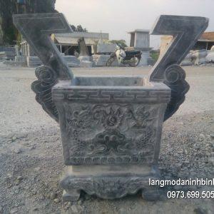 Lư hương đá đặt nhà chùa hoa văn tinh tế thiết kế cao cấp giá tốt