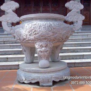 Lư hương đá đặt nhà chùa hoa văn tinh tế chất lượng tốt giá hợp lý