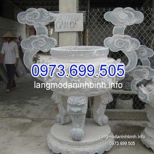 Lư hương đá đặt nhà chùa hoa văn tinh tế chất lượng tốt giá tốt