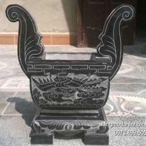 Lư hương đá đặt nhà chùa hoa văn tinh tế chất lượng cao giá tốt
