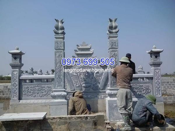 Mẫu cột cổng đá đẹp cho lăng mộ