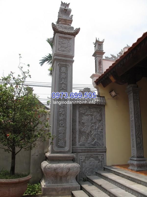 Mẫu cột đá vuông cho nhà thờ họ tốt nhất hiện nay