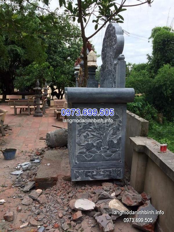 Mộ bành đá xanh khối đẹp nhất chất lượng cao giá tốt thiết kế cao cấp