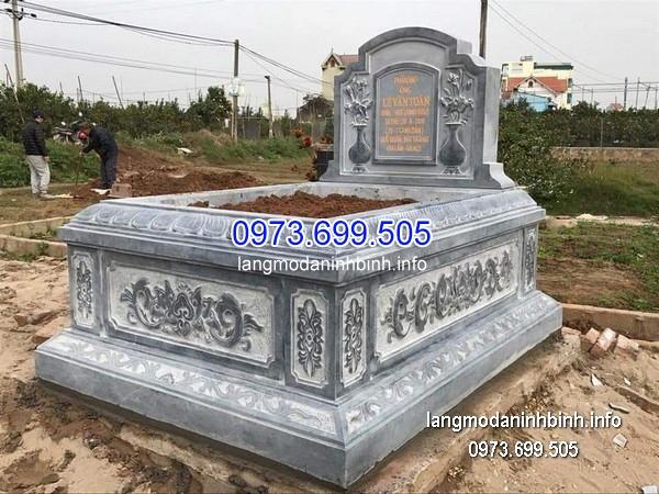 Mộ bành đá xanh khối đẹp nhất chất lượng cao giá tốt thiết kế hiện đại
