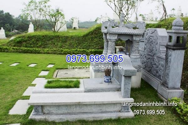 Mộ bành đá xanh khối đẹp nhất chất lượng cao giá rẻ thiết kế đơn giản