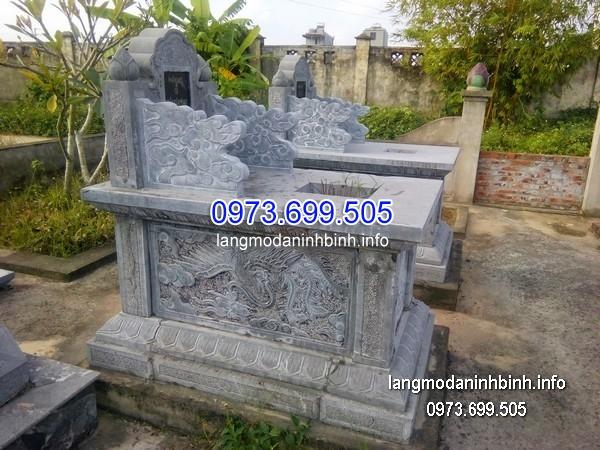 Mộ bành đá xanh khối đẹp nhất chất lượng cao giá rẻ thiết kế cao cấp
